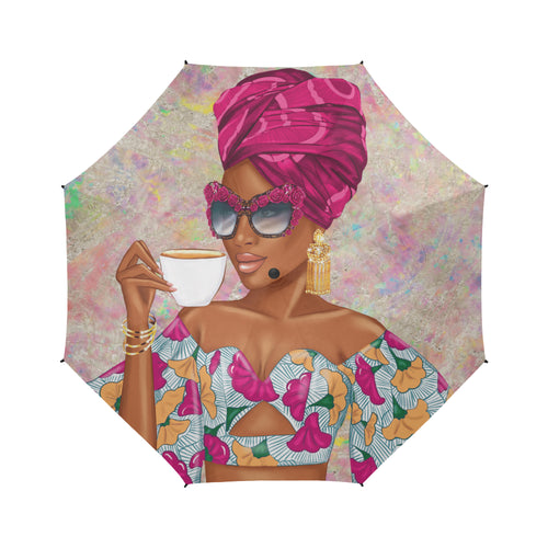 Summer Tea - Fuchsia - Custom Afrocentric Umbrella