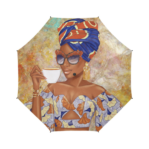 Summer Tea - Rust - Custom Afrocentric Umbrella