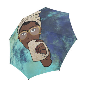 Avah Navy Batik - Custom Afrocentric Umbrella
