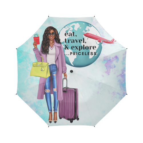 Eat Travel Explore- Custom Umbrella