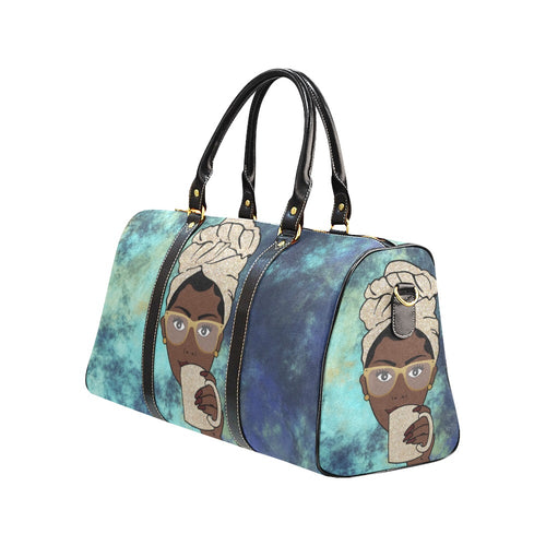 Avah Navy Batik  - Afrocentric Travel Bag