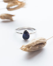 Blue John Ring in Sterling Silver - Size 6 US / M UK