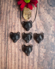 Small Smoky Quartz Hand Carved Bear Necklace