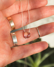 Ametrine Heart Vegan Silk Necklace