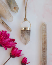 Amphibole Quartz Sterling Silver Necklace