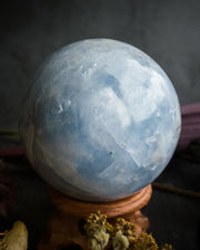 Blue Calcite Crystal Ball