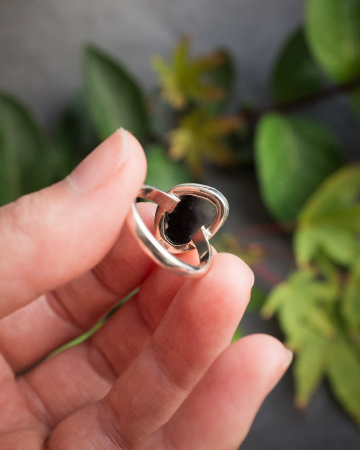 Blue John Ring in Sterling Silver - Size 7 US / O UK