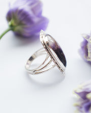 Blue John Ring in Sterling Silver - Size 8 US / Q UK