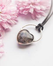 Blue John Heart Sterling Silver Necklace
