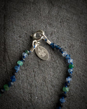 Emerald, Blue Sapphire & Moonstone Hand Knotted Beaded Necklace