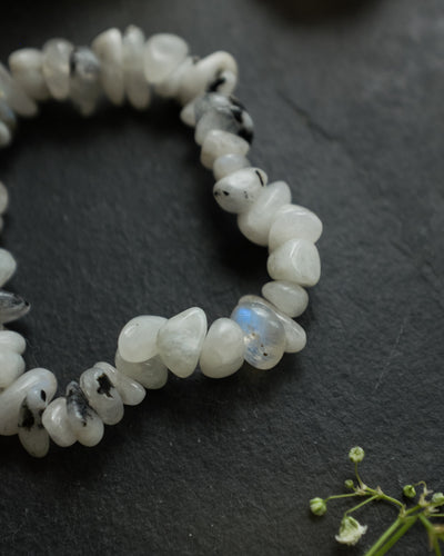 Moonstone with Tourmaline Bracelet