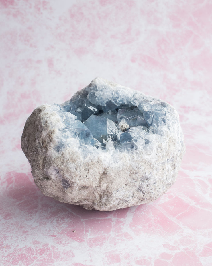 Large Madagascan Celestite Raw Crystal Cluster (2.7kg)