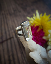 Clear Quartz Ring in Sterling Silver - Size 7 US / O UK