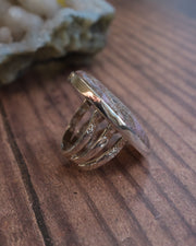 Cobaltoan Calcite Ring in Sterling Silver - Size 8 US / Q UK