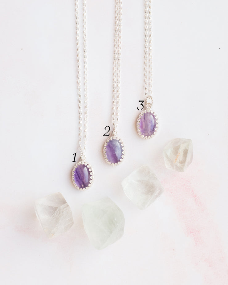 Rainbow Fluorite Sterling Silver Necklace