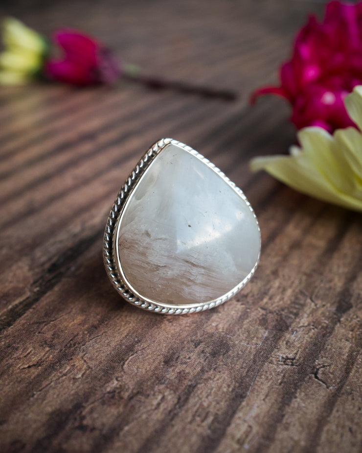 Included Quartz Ring in Sterling Silver - Size 7 US / O UK