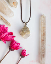 Included Quartz Sterling Silver Necklace
