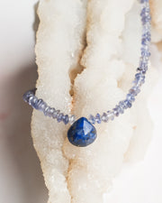 Iolite and Lapis Lazuli Beaded Necklace/Choker