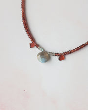 Garnet and Labradorite Beaded Necklace/Choker