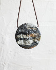 Picasso Jasper Hand Carved Lion Necklace