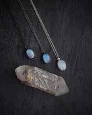 Rainbow Moonstone Sterling Silver Necklace
