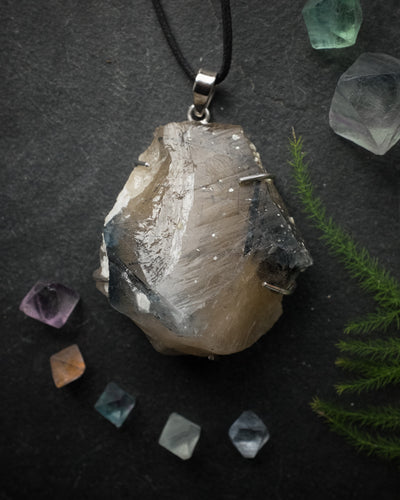 Tourmalinated Quartz Sterling Silver Necklace