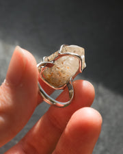 Witches Finger Quartz Ring in Sterling Silver - Size 8 US / Q UK