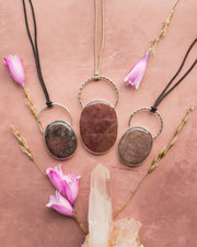 Pink Aventurine Sterling Silver Necklace