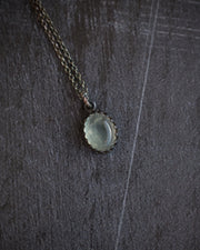 Prehnite Oxidized Sterling Silver Necklace