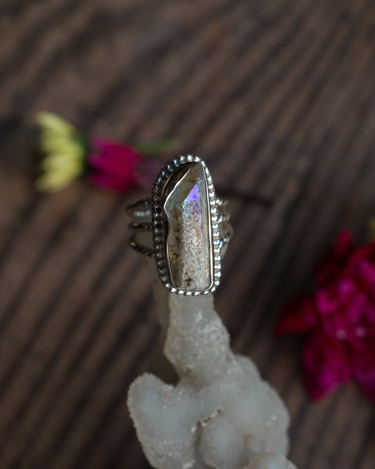 Angel Aura Ring in Sterling Silver - Size 7 3/4 US / P 1/2 UK