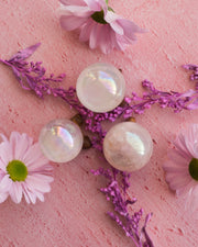 Rose Aura Quartz Crystal Ball