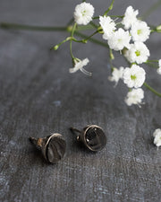 Shungite Earrings in Sterling Silver