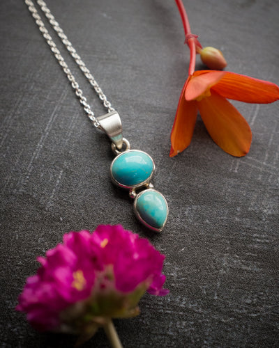 Sleeping Beauty Turquoise Sterling Silver Necklace