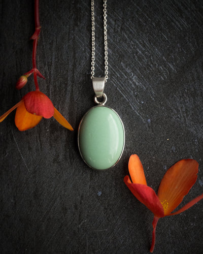 Variscite Sterling Silver Necklace