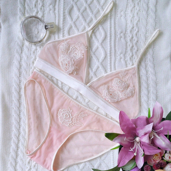 Purity Deep-V Lace Underwear