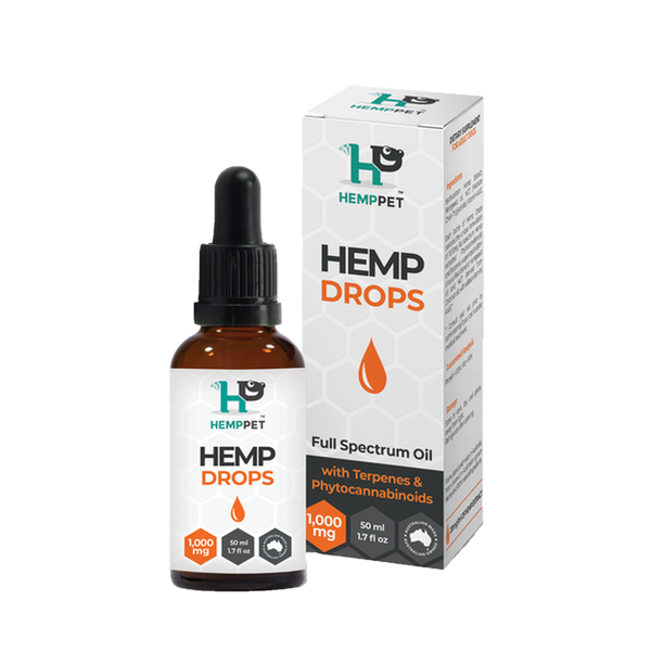 Hemp Drops 1000mg for Dogs, 50ml