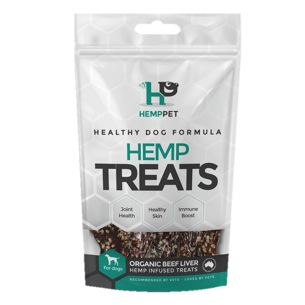 Organic Beef Liver Hemp Infused Treats for Dogs 80g