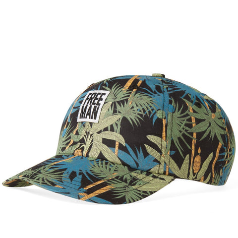 6-PANEL LOGO CAP - Night Jungle