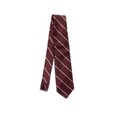 Freemans Necktie- Burgundy Stripe
