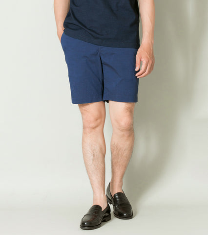 Emmett Seersucker Short - Navy