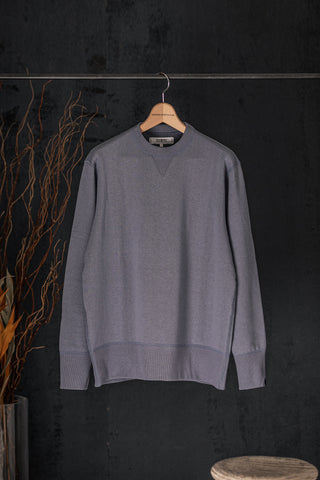 FREEMANS x LOOPWHEELER - BLUE GREY CREWNECK