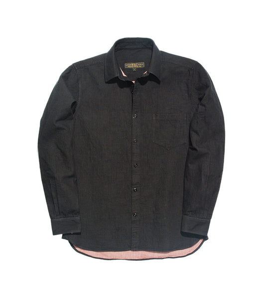 Casual Shirt - Black Double Gauze