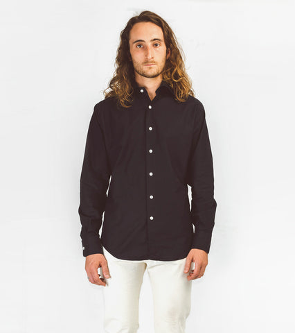 Hopkins Shirt - Black Oxford