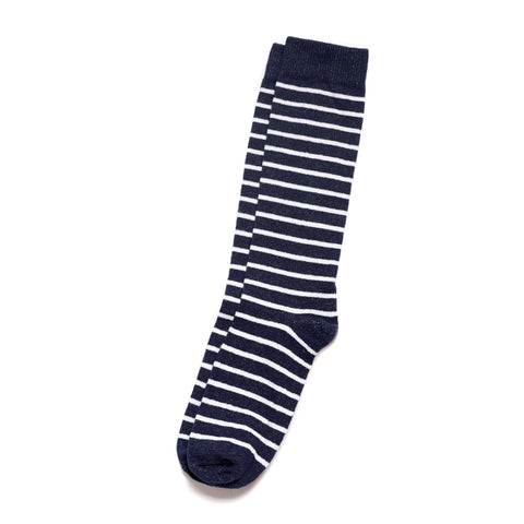 Breton Stripe Sock- Navy/White Stripes