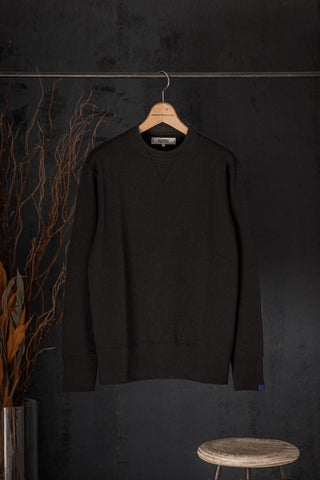 FREEMANS x LOOPWHEELER - CHARCOAL CREWNECK