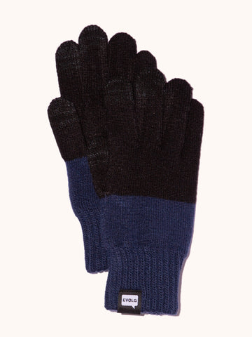 EVOLG 2Ton Knit Gloves - Black/Navy