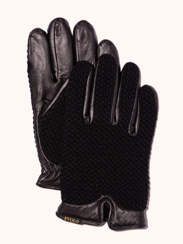 EVOLG Norn Leather Gloves - Black