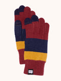 EVOLG Axis Knit Gloves - Burgundy/Navy/Gold