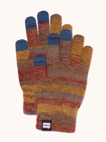 EVOLG Azteka Knit Gloves - Cocoa