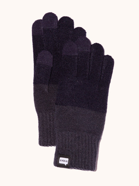 EVOLG 2Ton Knit Gloves - Deep Blue/Gray